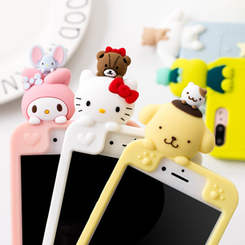 For iPhone X 7 8 7Plus full case 3D hello kitty / Melody phone Cases For iphone 6 6s 6plus Bear Soft back cover case girl pinkFor iPhone X 7 8 7Plus full case 3D hello kitty / Melody phone Cases For iphone 6 6s 6plus Bear Soft back cover case girl pink