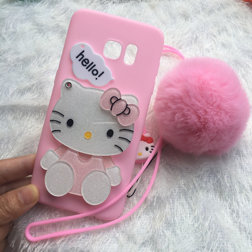 For samsung galaxy S8 plus /s7 edge /s6 case Pink Hello kitty KT cat mirror phone cover for SAM A3 A5 A7 2017/ A8 A9 cartoon