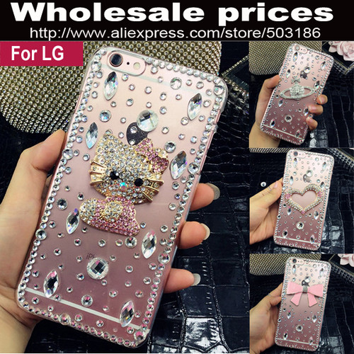 Beautiful Hello Kitty Diamond Rhinestone case cover For LG X Style / X Power / X Cam K3 K5 K7 K8 K10 2017 V10 V20