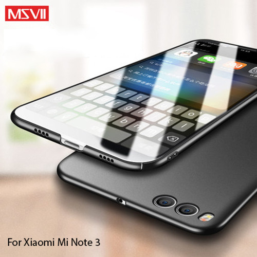 100% Original MSVII  Brand luxury Case for xiaomi mi note 3  hard PC simple and frosted style cover for xiaomi note 3 (5.5'')