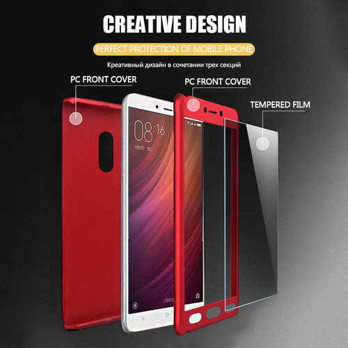 H&A 360 Degree Protective Case For Xiaomi Redmi Note 4 4X Full Shockproof Phone Cover For Redmi Note 4X 64GB Case With Glass