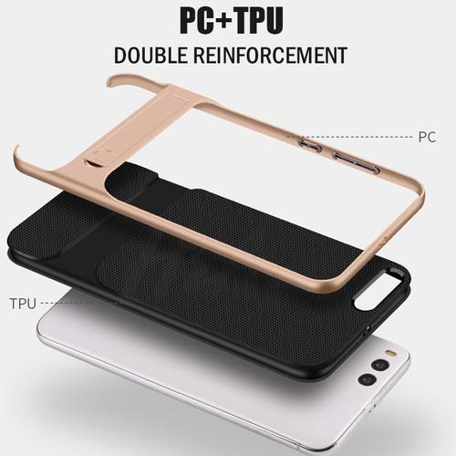 H&A Luxury 360 Full Cover Phone Case For Xiaomi Mi5S Mi A1 5X PC+TPU Hybrid Cover For Xiaomi Mi6 Kickstand Protective Cases