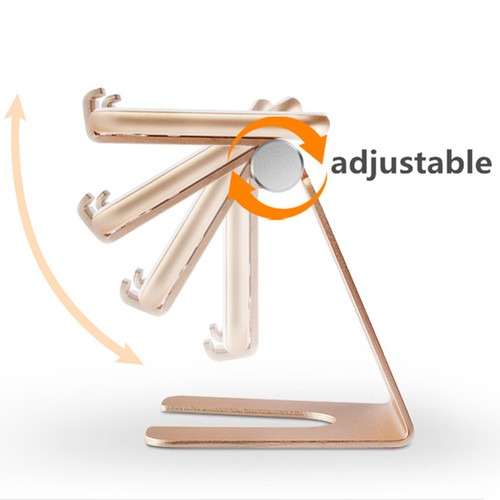 Aluminum Alloy Rotatable Phone Holder Tablet Holder Stand Mount Support Bracket Adjustable Table Holder for iphone X for Samsung