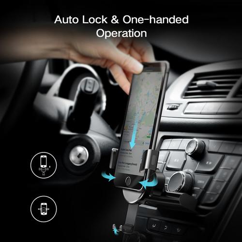 Ugreen Gravity CD Slot Car Phone Holder for iPhone 7 Mount Holder Stand GPS Phone Holder for Samsung S8 S9 Mobile Phone Holder