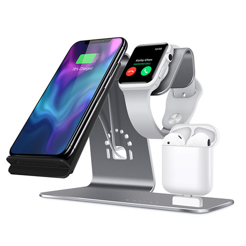 Bestand 3 in 1  iWatch Stand, Airpods Charger Dock, Phone Desktop Tablet Holder for Airpods,