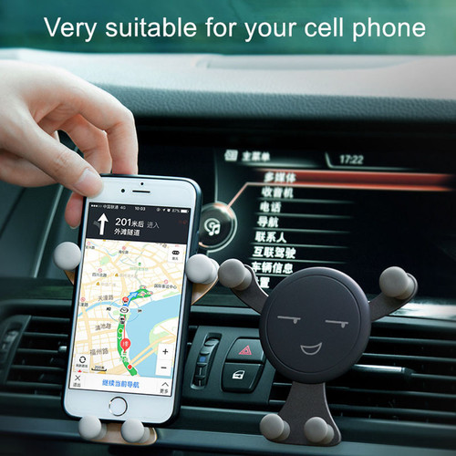 SHUOHU Gravity Stand for Phone Car Cell Phones Holder Smartphone Stand Universal Car Phone Holder Snap-type PhoneS GPS Stand