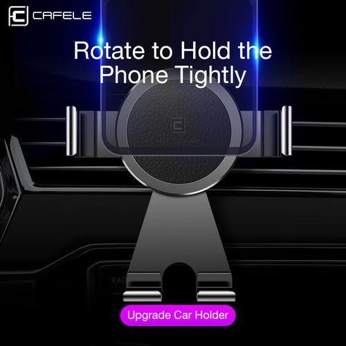 CAFELE Car Phone Holder 360 Degree Rotation Air Vent Mount GPS Holder Aluminium Alloy Phone Car Holder for iPhone X Samsung S9