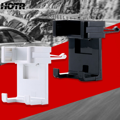 Black White Car Phone Holder Air Vent Mount Mobile Phone Holder Extendable for iphone X 8 7 6 plus for Samsung Note 8 s8 plus s7