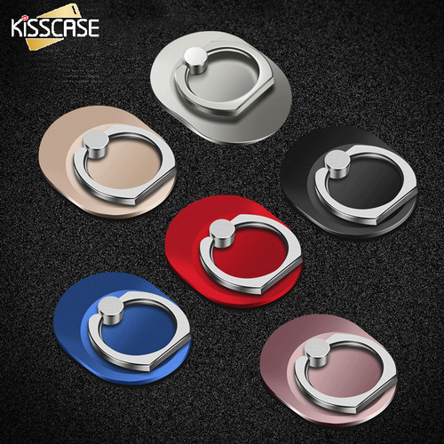 KISSCASE Universal Phone Holder 360 Degree Rotation Finger Ring Holder Pop Stand Sockets Mobile Phone Accessories For iPhone 6 7