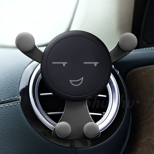 Universal Car Phone Holder Air Vent Mobile Phone Holders Gravity Stands Smile Car Cell Phone Holder Smartphone Stand No Magnetic