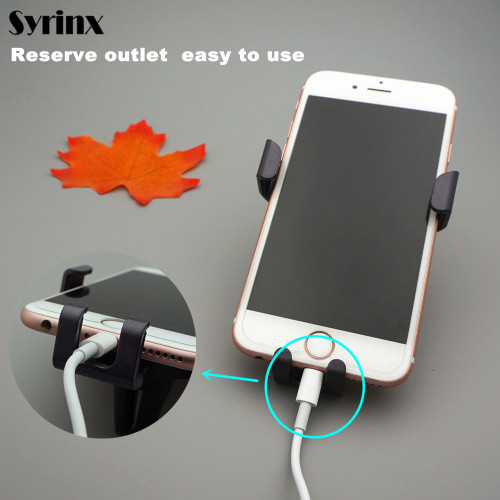 SYRINX Gravity Car Mobile phone holder Stand Support air vent monut GPS car phone holder for iPhone 7 6s Plus X Samsung S8