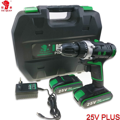 25V power tools Cordless Drill electric Drill Electric 2 Batteries Screwdriver Mini Drill electric drilling electric screwdriver