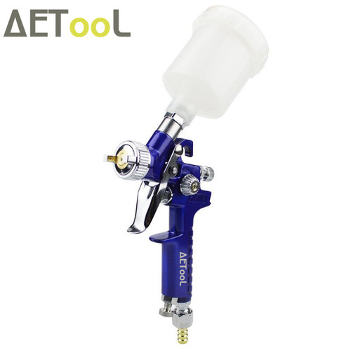 AETool 0.8mm/1.0mm Nozzle H-2000 Professional HVLP Spray Gun Mini Air Paint Spray Guns Airbrush For Painting Car Aerograph