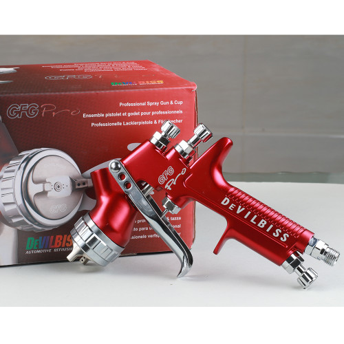 Paint spray gun gravity GFG pro HVLP G0013 paint gun for painting body car topcoat and lacquer spray repair 1.3 tip 600cc cup