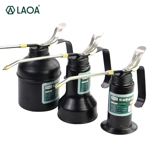LAOA HVLP Oiler 180cc/350cc/500cc Machine Oiler Pump High Pressure Long Beak Oil Can Pot Hand Tools for Lubricating Airbrush