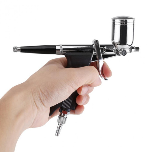 Multi-Purpose 2/3 Cups Gravity Spray Gun Trigger Airbrush Set for Art Painting