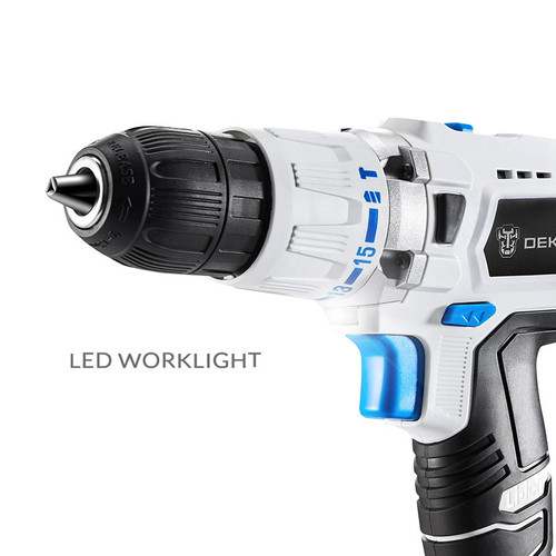 Electric Drill 18V DC  Lithium Battery  Power Tools Impact   DIY Home Father 's Day Gift Hammer Cordless Drill