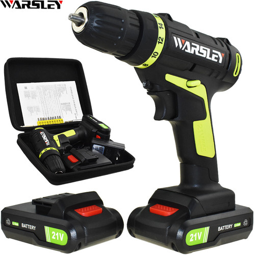 21v Electric Screwdriver Power Tools Electric Drill Cordless Drill Batteries Screwdriver Mini 1.8Ah Battery Capacity Drill