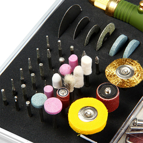 80pcs 12W Mini Electric Drill Multi-functional Grinder Polish Sanding Rotary Tool Set Kit Dremel Bit Case With Box US EU Plug