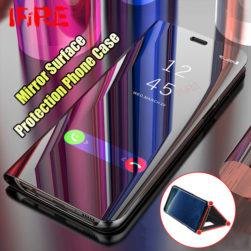 Luxury 360 Flip Stand Smart View Phone Cases For Samsung Galaxy A5 A7 J5 J7 2017 Case For Galaxy S7 Edge S8 S9 Plus Note 8 Cover