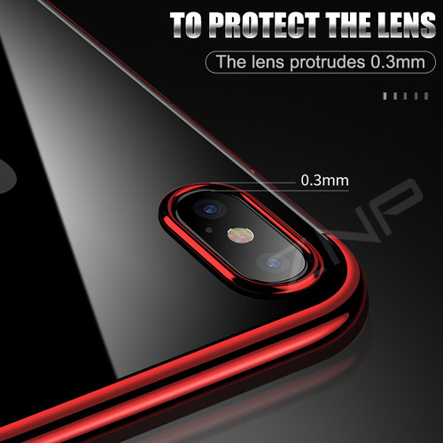 ZNP Luxury Soft TPU Silicone Case For iPhone X 8 7 6s Plus Phone Cases Plating Back Cover Case For iPhone 10 8 7 6 X Cases Shell