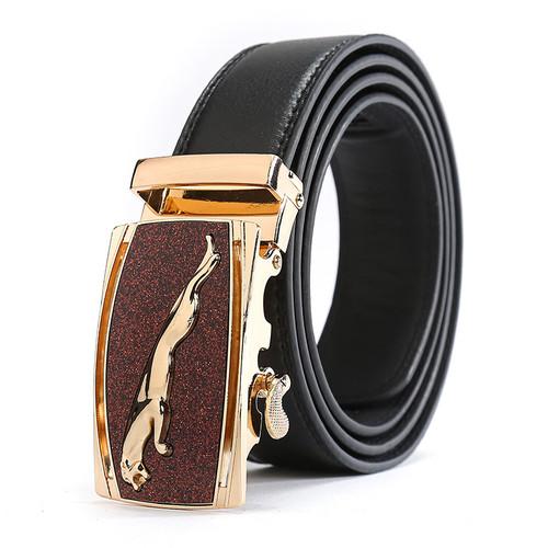 Casual Jaguar Top Designers Luxury Cowhide Brand Genuine Leather Belts for Mens Wedding Male Cowskin Strap Ceinture Homme Black