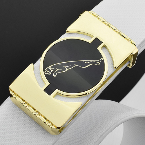 Luxury genuine leather off white belts designer belts men high quality Jaguar Golden buckle Waist strap fashion ceinture homme