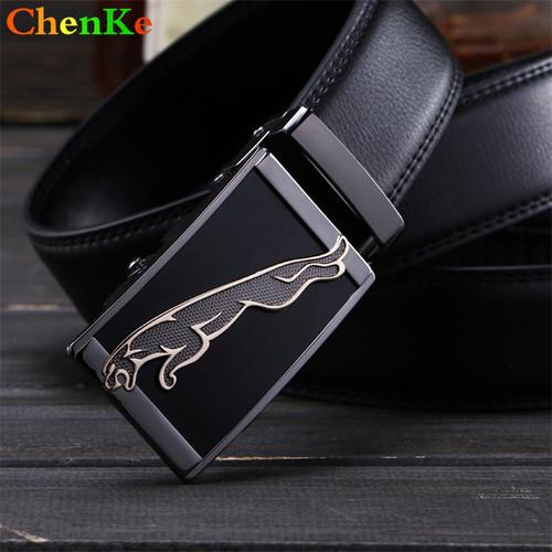 ChenKe New high quality belts cowboys men's belt gold luxury Jaguar Automatic buckle designer waist strap jeans