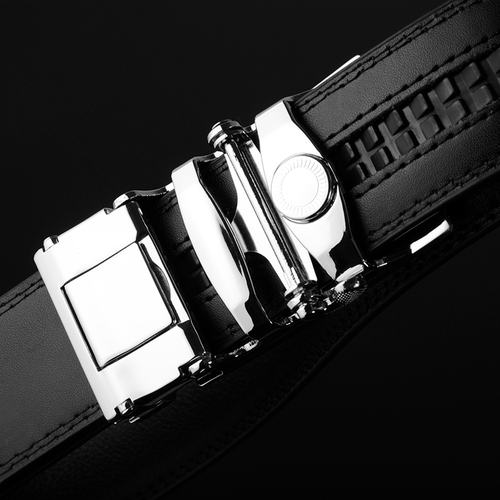 WOWTIGER HOT Automatic buckle belt men jaguar fashion business Leather luxury belt for men free shipping
