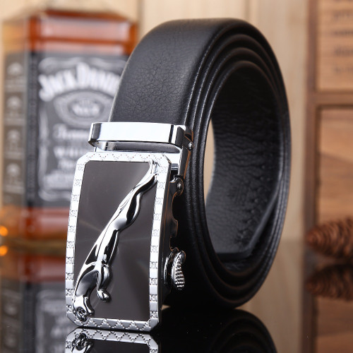 gold buckle jaguar mens belts luxury 2018 new hot designer strap high quality fiber leather 160 cm 150 140 automatic big size 64