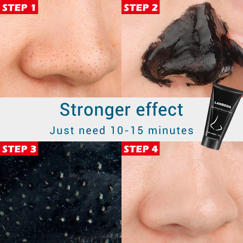 LANBENA Blackhead Remover Nose Black Mask Face Care Mud Acne Treatment Peel off Mask Pore Strip Skin Care Peel Mask