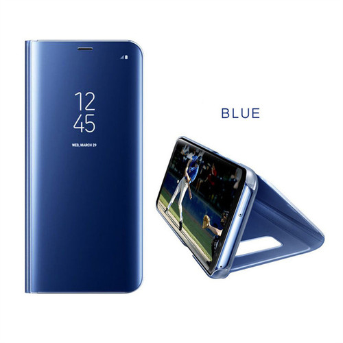 Mirror Flip Leather Case For Samsung Galaxy Note 8 S6 S7 Edge S8 Plus Clear View Window Smart Cover For iphone 6 6s 7 8 Plus X