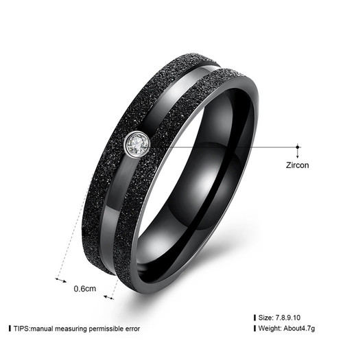 Men ring set style (1pc ring only) KJ-TGR132-D, black gun color, Women style KJ-TGR131-B, suggest order by set