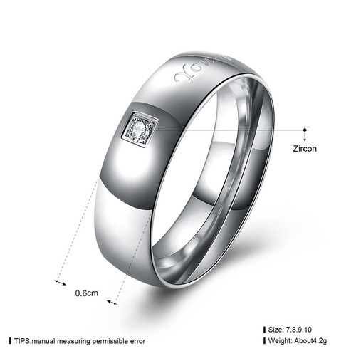 KimJ Ring set of Men style (1pc ring only) KJ-TGR128-G, Titanium steel, Women style KJ-TGR127-G, suggest order by set