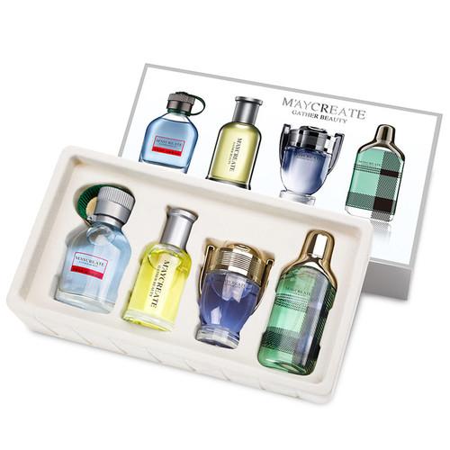 MayCreate Men Perfume Lasting Fragrance Mini Bottle Portable Perfume Brand For Men VS Perfume Women Female Perfume 1Set 4Pcs