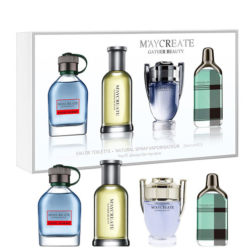 MayCreate Men Perfume Lasting Fragrance Mini Bottle Portable Perfume Brand For Men VS Perfume Women Female Perfume 1Set 4Pcs