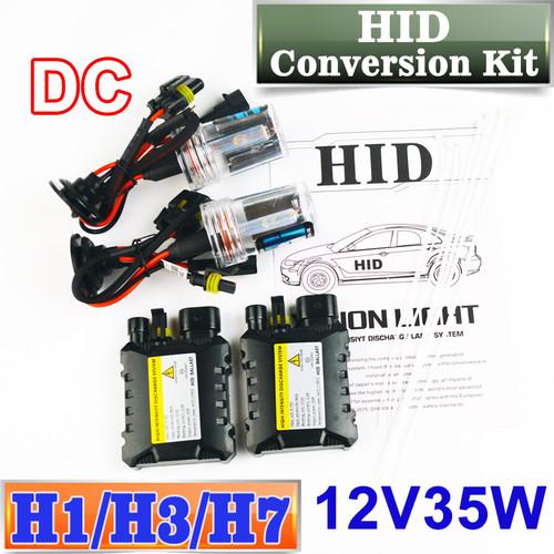 Flytop XENON DC HID Conversion Kit 12V 35W H1 H3 H7 Lamp Slim Ballast Car Headlight Bulb 4300K 6000K 8000K 30000K FREE SHIPPING