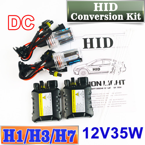 Flytop XENON DC HID Conversion Kit 12V 35W H1 H3 H7 Lamp Slim Ballast Car Headlight Bulb 4300K 6000K 8000K 30000K FREE SHIPPING