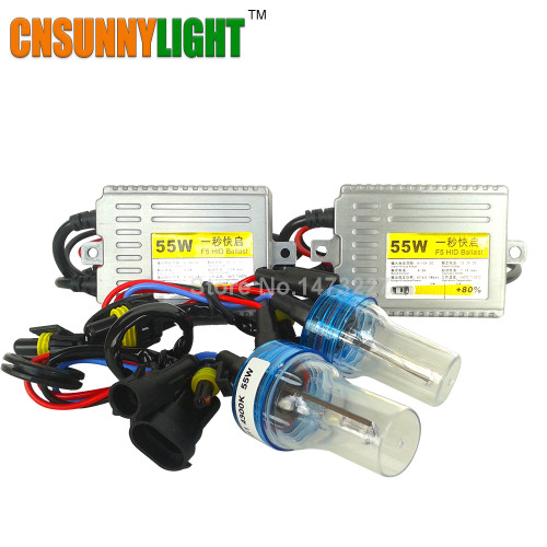 CNSUNNYLIGHT Xenon Bulb Kit for Cars 12V 55W Hid Conversion Slim Ballast Fast Bright Headlight Fog Light  H1 H3 H7 H8 H11 9005