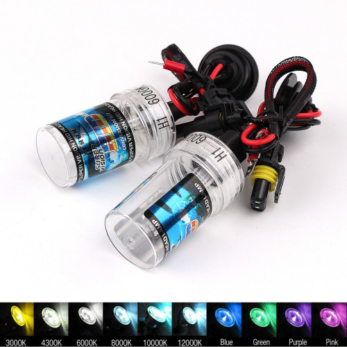 SVALID 2PCS Car Headlight Car HID Xenon Bulb H1 H3 H7 H8/H9/H11 35W Auto Car Bulb Headlight Lamp Lights 4300K 6000K 8000K