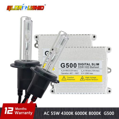 xenon H7 High Quality H1 H3 H4 H7 H11 9005 9006 881 55W 12V AC HID Kits Xenon Bulb 4300K 6000K 8000k Slim Xenon Ballast