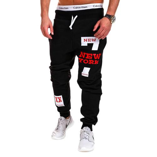 2017 New Men's Casual Pants Cotton Performance Fashion Fitness Workout Pants Casual Sweatpants Trousers Jogger Pants Homewear