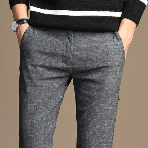 HCXY 2017 Spring Classic New High Quality  Men's Elastic Casual Pants Mens Business Dress Slim Jogger Stretch Long Trouser Male