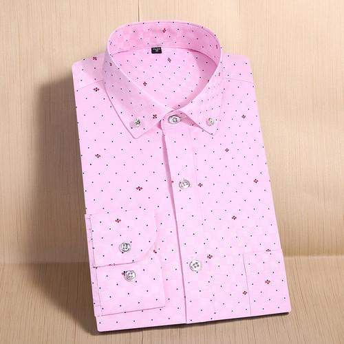 T-Bird Men Shirt Long Sleeve Print Casual  Shirt camisa masculina Brand High Quality Men'S Shirts British Style Dress Mens Shirt