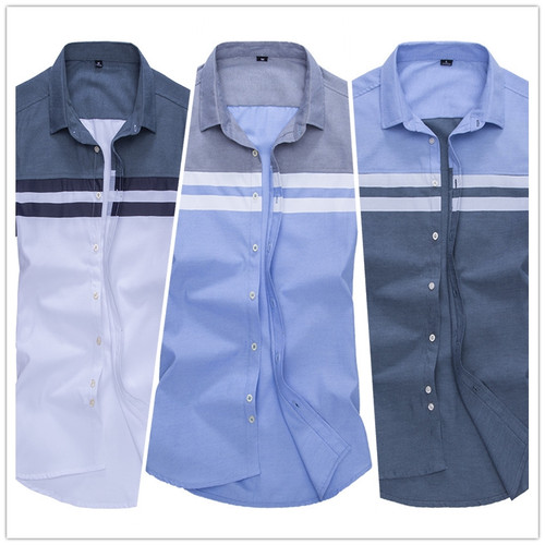 BROWON New Arrival Mens Shirt Fashion Short Sleeve Men Shirt Regular Fit Striped design Social Shirt Camisa Social Masculina