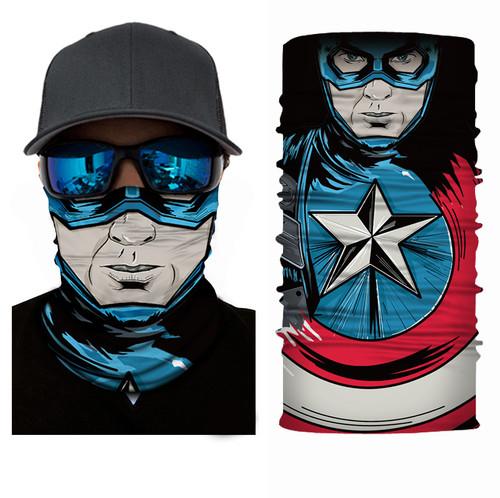 Mr.Kooky 3D Seamless Heros Neck Face Mask Tube Headwear Women Men's Bicycle Funny Magic Scarf Balaclava Bandana Shield Headband