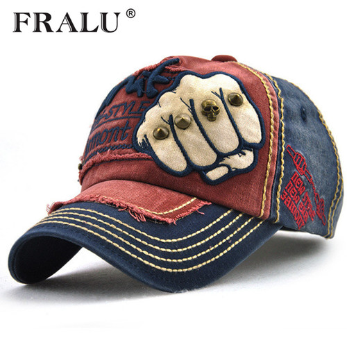FRALU New unisex fashion men's Baseball Cap women snapback hat Cotton Casual caps Summer fall Hat for men cap wholesale