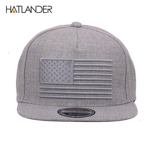[HATLANDER] Raised flag embroidery cool flat bill baseball cap mens gorras snapbacks 3D flag hat ourdoor hip hop snapback caps