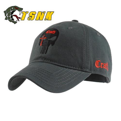 TSNK Cotton Baseball Cap branded women men Tactical army caps Seals Punisher American Sniper baseball hat
