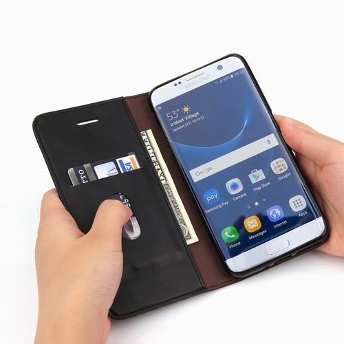 Haissky Flip Phone Case For Samsung S9 S8 Plu S7 edge Case Luxury Leather Wallet Cover Stands Case For Samsung Galaxy S9 Plus